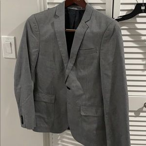 Men's blazer gray with a black lining